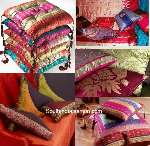old_sarees_recysled_to_cushion_covers