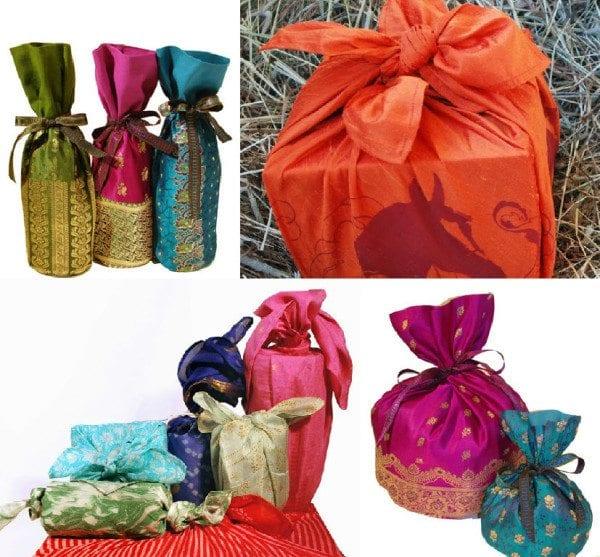 old_sarees_reused_as_gift_wrappers
