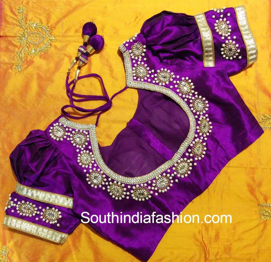 puff_sleeves_blouse_for_silk_sarees