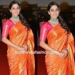 Regina in Traditional Saree at CineMAA Awards