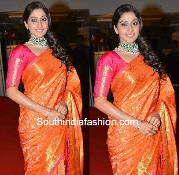 regina_in_pattu_saree