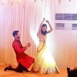 Shahid Kapoor and Mira Rajput at their Sangeet