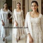 Shilpa Reddy in White Anarkali