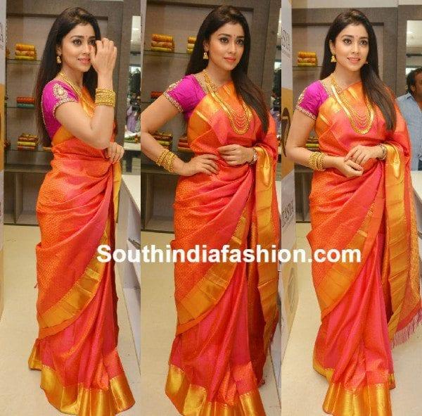 shriya_sraan_in_kanjeevaram_saree