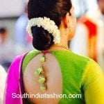 Simple Blouse Design for Traditional Sarees