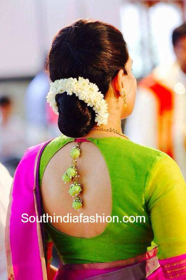 Traditional Blouse Back Designs 44