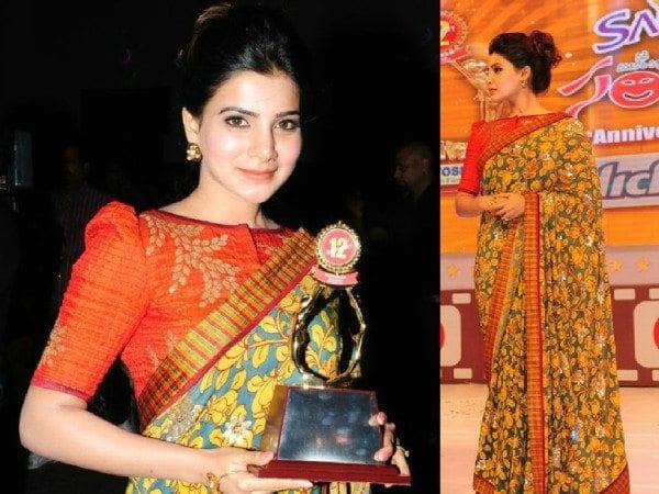 Samantha at Santosham awards