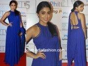 Shriya Saran in Manish Malhotra at Lakme Fashion week 2015
