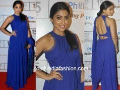 Shriya Saran in Manish Malhotra at Lakme Fashion week 2015