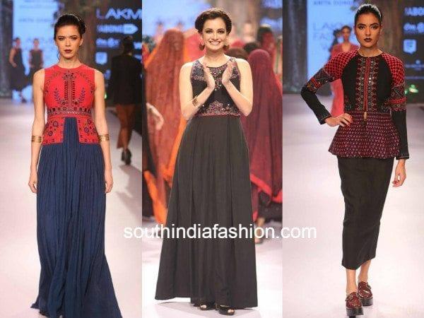 Anita Dongre's mirror work weaves at LFW 2015 - South India Fashion