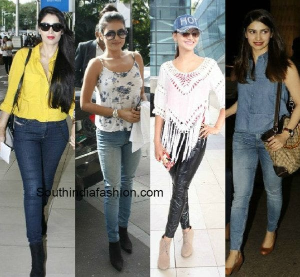 Celeb Airport Styles South India Fashion