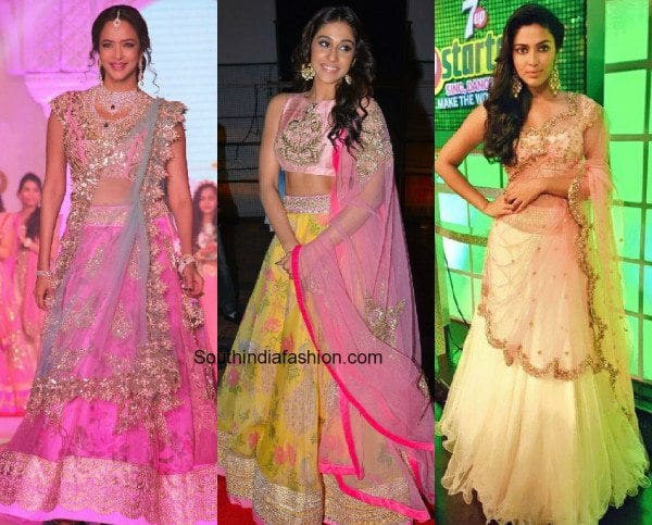 celebrities_in_anushree_reddy_bridal_lehengas