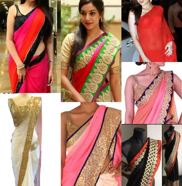 5 Easy Design It Yourself / DIY Saree Ideas –South India