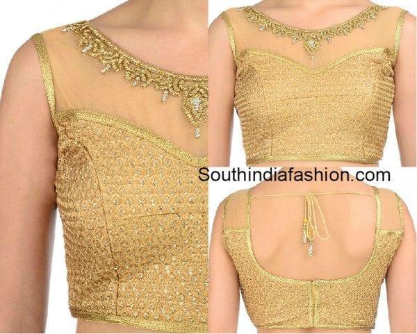 Золотая блузка