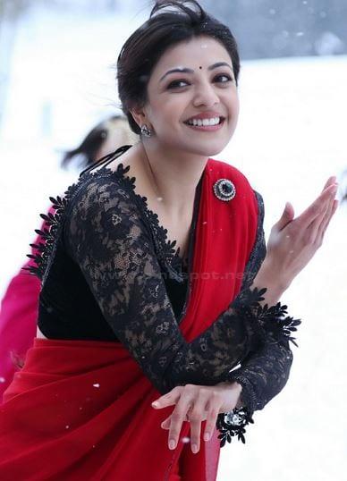 kajal_agwarwal_badshah_full_sleeves_lace_blouse