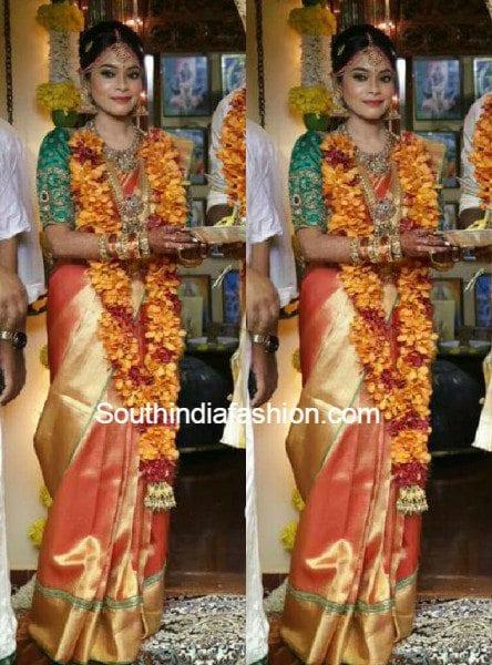 keerthi_kiki_wedding_saree