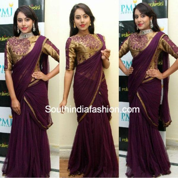 kenisha_saree_gown