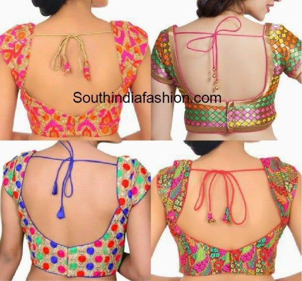 must_have_saree_blouse_designs_multi_color_blouse
