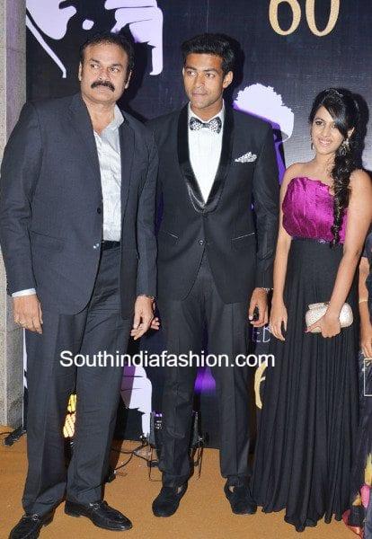 Nagababu's Family at Chiranjeevi's 60th Birthday ...