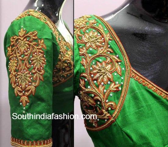 pattu_saree_blouse_green