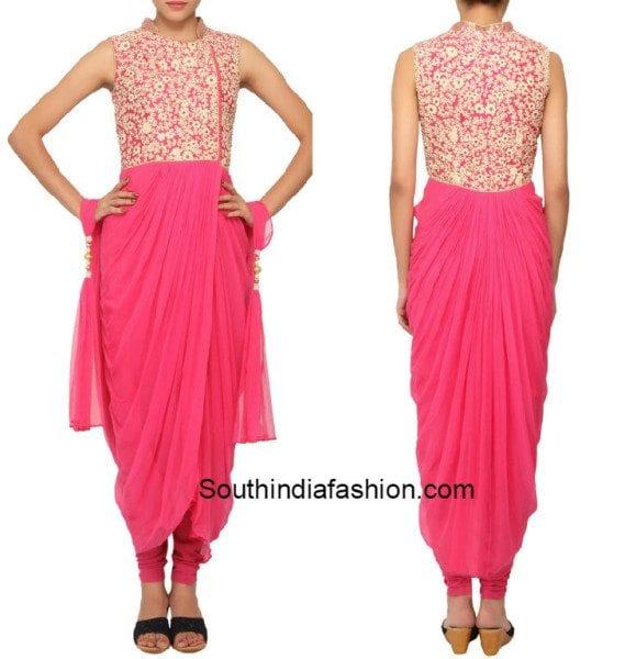 pink_dhoti_style_salwar
