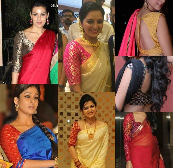 plain_sarees_with_brocade_blouse