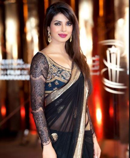 priyanka_chopra_full_sleeves_black_blouse