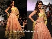 shilpa shetty in divya reddy at lakme fashion week 2015 as show stopper