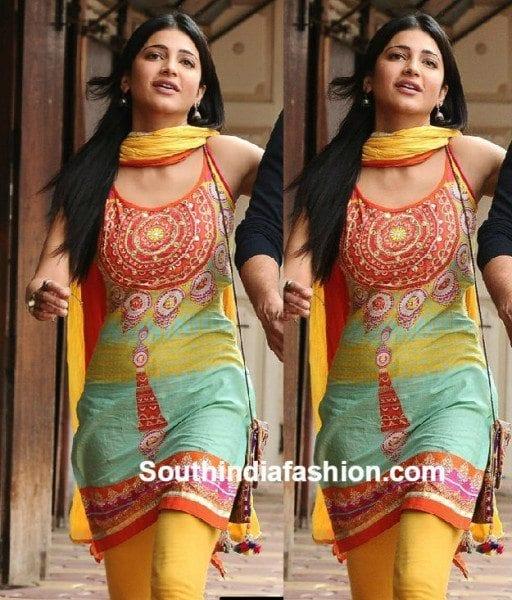 shruti_haasan_kurti_in_srimanthudu