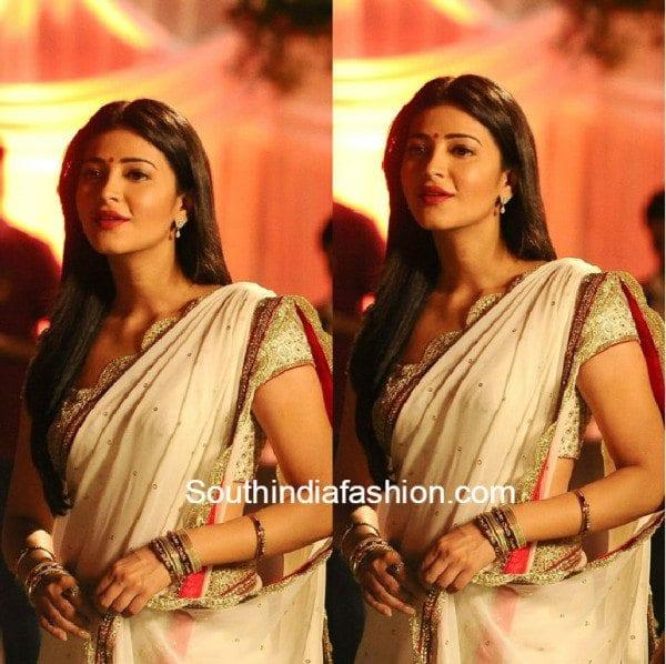 shruti_haasan_white_saree_in_srimanthudu