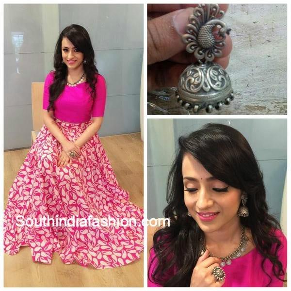trisha_krisha_krishnan_skirt_crop_top_at_nayaki_muhurat
