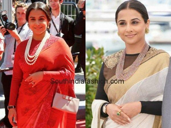 vidya balan blouse designs