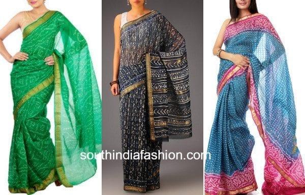 bandhani cotton sarees