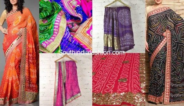 bandhani designer sarees