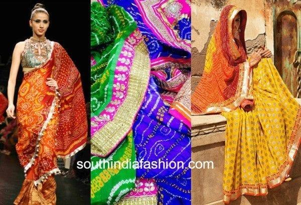 bandhani latest sarees