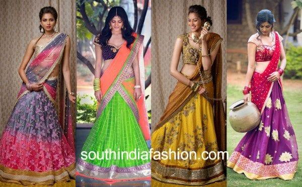 bhargavi kunnam half sarees