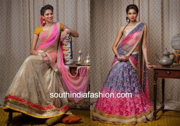 bhargavi latest half sarees