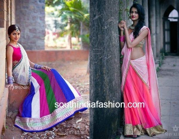 bhargavi kunam half saree designs