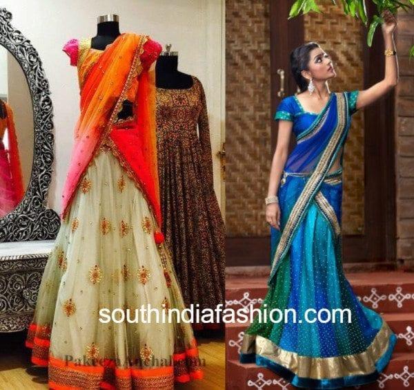 bhargavi kunam trendy half sarees
