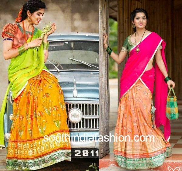 bhargavi kunam designer half sarees
