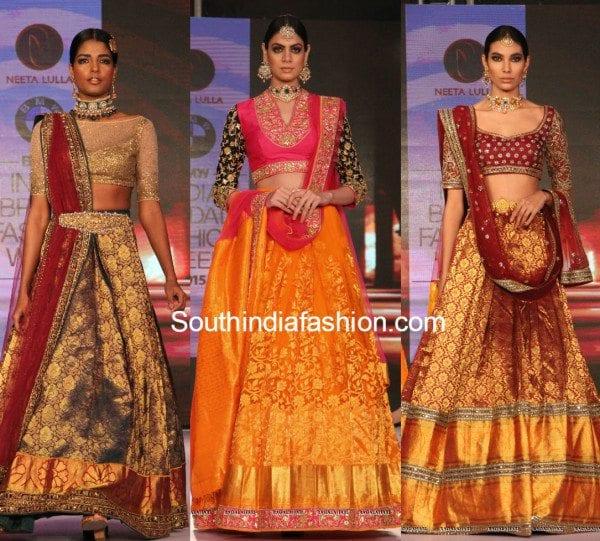 Bmw India Bridal Fashion Week Neeta Lulla S Stunning Kanjeevaram Collection South India Fashion
