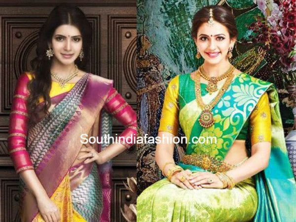 boat_neck_blouse_with_silk_sarees