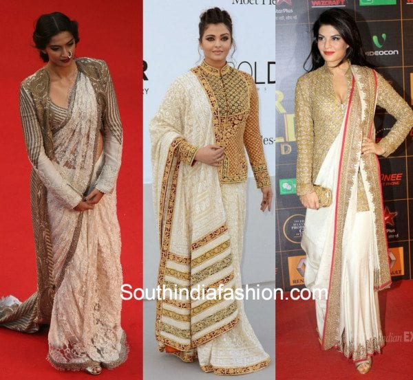 4be348e7ea9eae 6 Ways of using a 'Jacket Blouse' to up the style quotient of your saree!