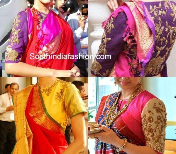 gaurang_shah_zardosi_blouse_designs_with_kanchipuram_sarees