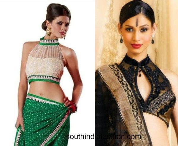 halter neck blouse designs