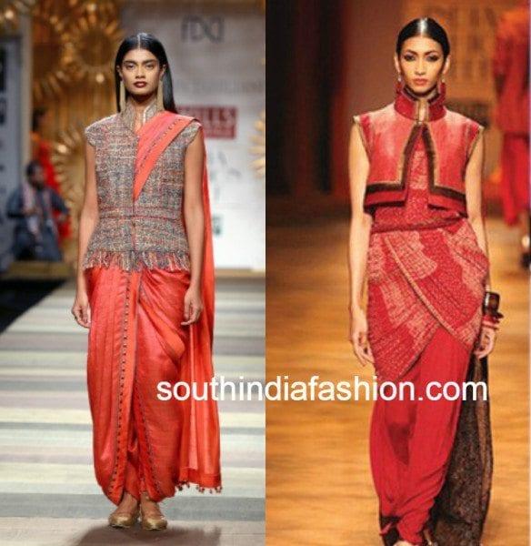 jacket blouses with dhoti sarees