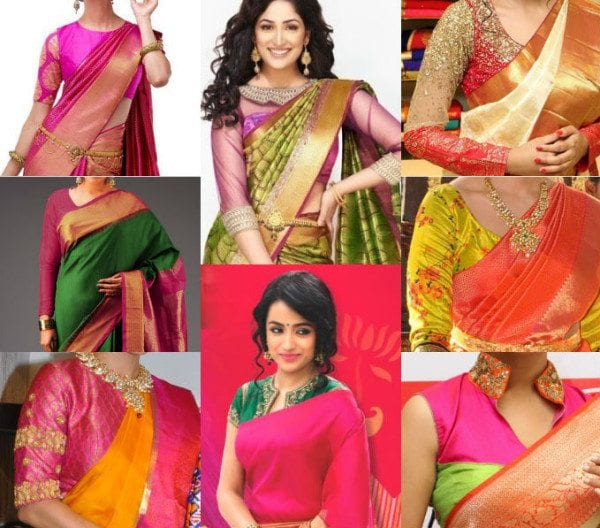 10 trendy blouse designs for kanjeevaram sarees