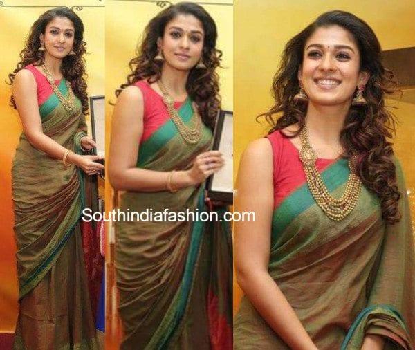 3c87e1ac4728d Nayanthara in Handloom Saree – South India Fashion