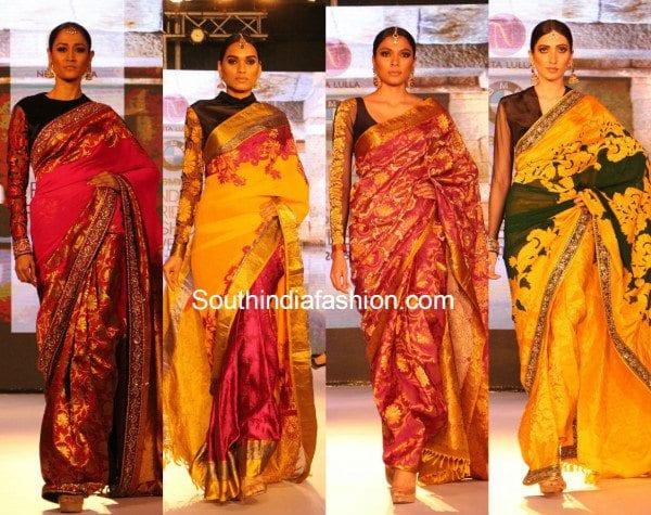 neeta_lulla_kanjeevaram_collection_bmw_india_bridal_fashion_week