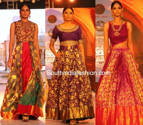 neeta_lulla_kanjeevaram_lehengas_bmw_india_bridal_fashion_week_hyderabad